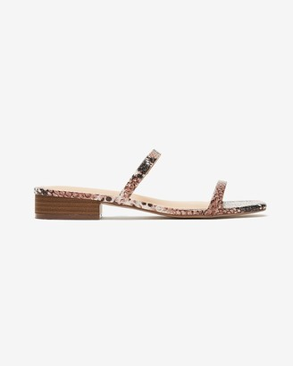 Express Double Band Stacked Heel Sandals