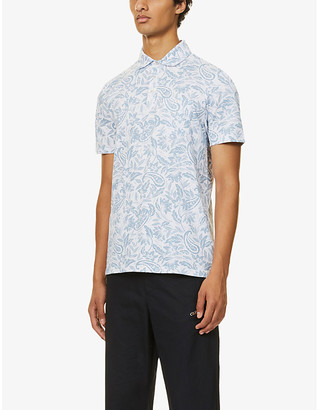 Ted Baker Paisley-print cotton-jersey polo shirt