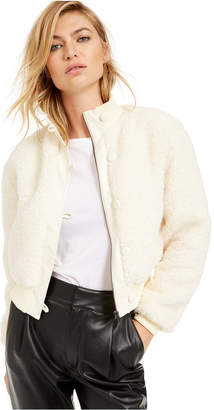 Bar III Becca Tilley x Cropped Faux-Fur Bomber Jacket