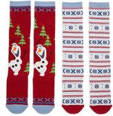 Disney Olaf's Frozen Adventure Holiday Knee High Socks - 2 Pack