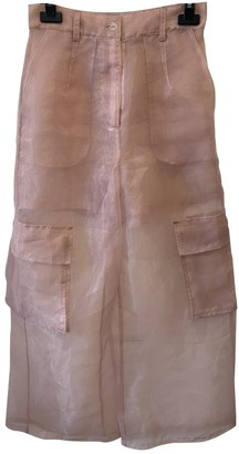 Aeryne Pink Trousers for Women