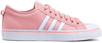 adidas Nizza Leather-trimmed Canvas Sneakers