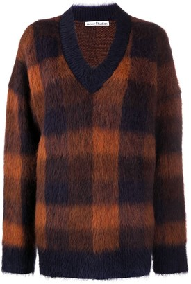 Acne Studios Check-Pattern Oversize Jumper