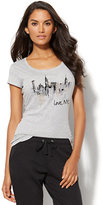 "New York & Co. Lounge - ""Love, NYC"" Glittering Graphic Tee"