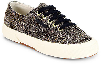 Superga THE ROW FOR Metallic Tweed Low-Top Sneakers