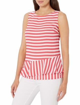 Nautica Women's Sleeveless Layered Hem Lightweight Woven Top