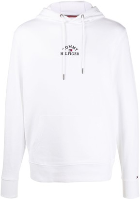 Tommy Hilfiger Long Sleeve Embroidered Logo Hoodie