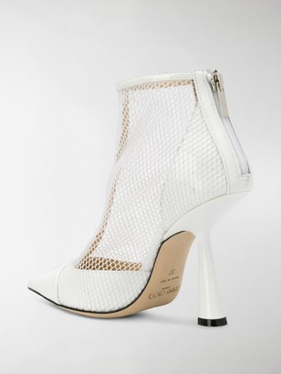 Jimmy Choo Kix mesh panel boots