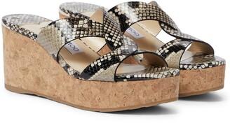 Jimmy Choo Atia 75 snake-effect sandals