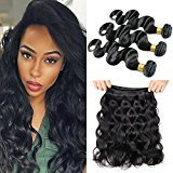 MAOYUAN Hair Brazilian Virgin Hair Body Wave 3 Bundles Grade 7A Unprocessed Virgin Human Hair Weave Weft Mixed Length natural hair (3pcs 18inch)