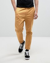 Asos Tapered Chinos In Mustard