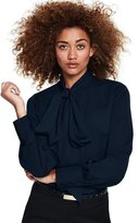 Lands' End Canvas by Women's Bow Tie Blouse