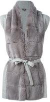 N.Peal cashmere furry detail cardi-coat