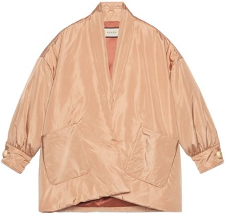 Gucci Silk bomber jacket with scarf