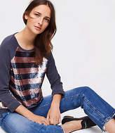 LOFT Sequin Sweatshirt