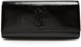Saint Laurent Kate patent-leather clutch