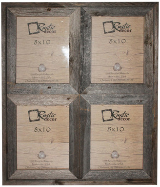 "Rustic Decor Llc Carolina Reclaimed Rustic Barn Wood Collage Photo Frame, 8""x10"""