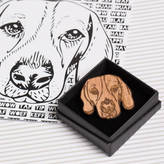 Frilly Industries Beagle Pin Badge And Card Gift For Dog Lovers