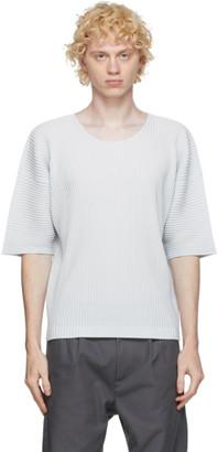 Homme Plissé Issey Miyake Grey Crewneck T-Shirt