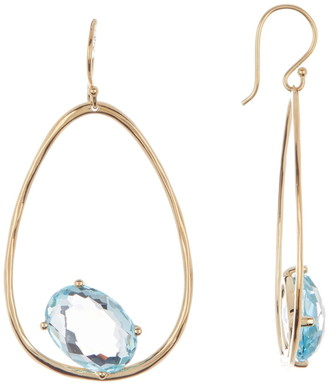 Ippolita 18K Gold Rock Candy Large Suspension Earrings in Blue Topaz