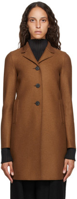Harris Wharf London Brown Pressed Wool Coat