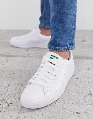 Puma Basket Classic sneakers in white leather