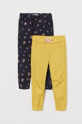 H&M 2-pack Cotton Pull-on Pants