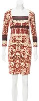 Just Cavalli Printed Mini Dress