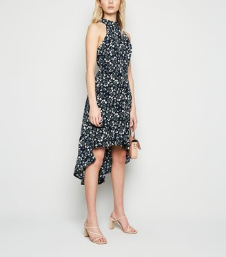 New Look Mela Ditsy Floral Dip Hem Dress