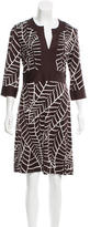 Tory Burch Silk Long Sleeve Dress