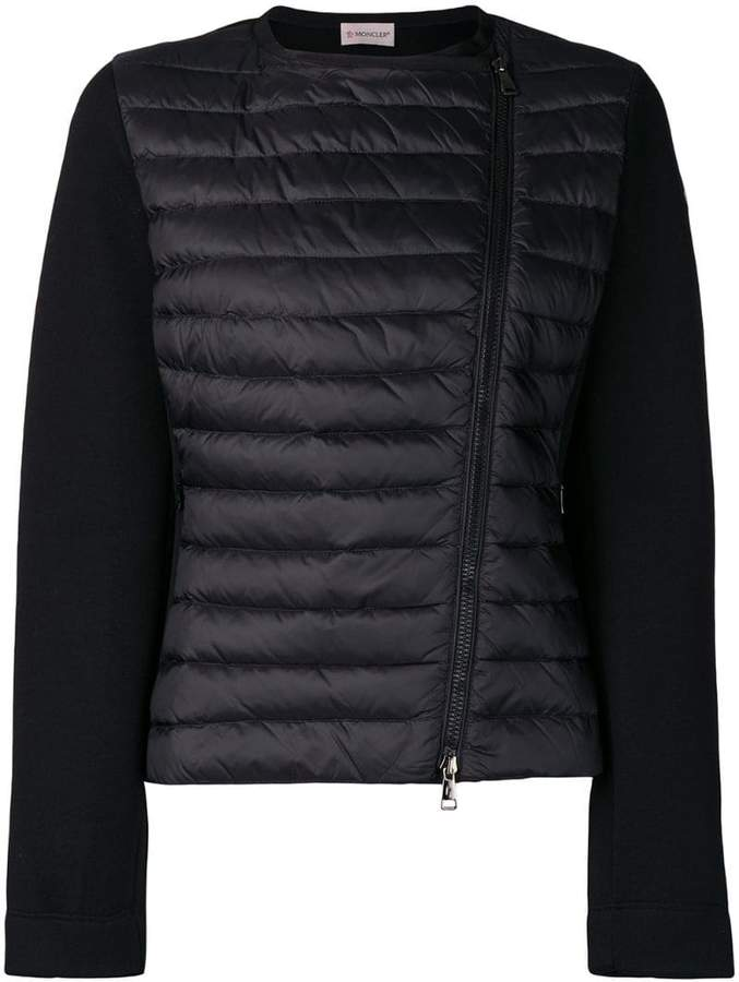 Moncler quilted fitted jacket