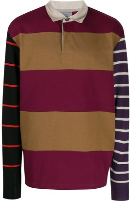 Lanvin Striped Panelled Polo Shirt