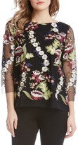 Karen Kane Women's Embroidered Tulle Top