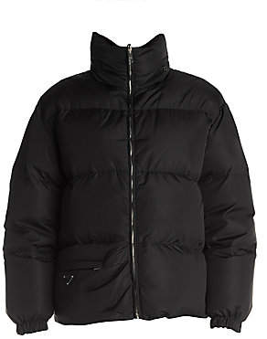 Prada Women's Piuma Buckled Nylon Puffer Jacket