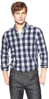 Gap Lived-in wash plaid shirt