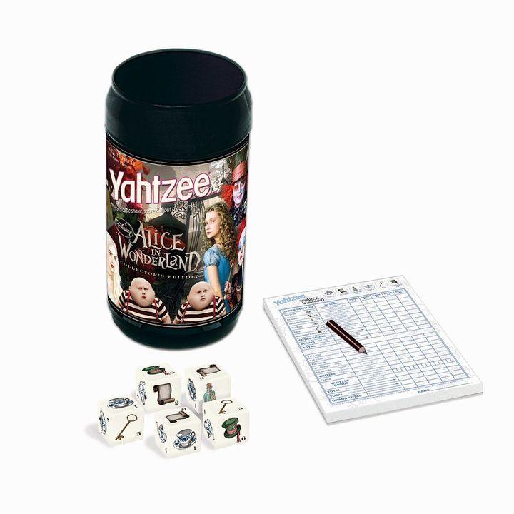 Disney alice in wonderland edition yahtzee game