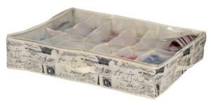 Home Basics Paris Collection 12 Pair Under-the-Bed Shoe Box