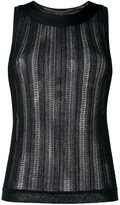 Missoni striped sheer sleeveless blouse