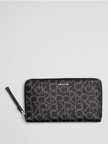 Calvin Klein Tina Monogram Zip Wallet