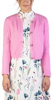 Miu Miu Women's Cashmere Jewel Buttoned Cardigan Pink.
