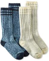 "L.L. Bean Merino Wool Ragg Sock, 12"" Stripe 2-Pack"