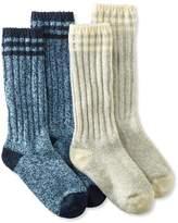 """L.L. Bean Merino Wool Ragg Socks, 12"""" Stripe Two-Pack"""