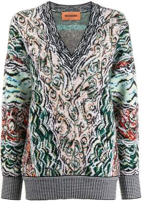 Missoni abstract pattern jumper
