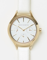 French Connection Daisy 36mm Grand Leather Strap Watch