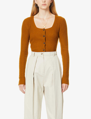 Vince Square-neck cashmere cardigan