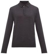 Paul Smith - Long Sleeved Merino Wool Polo Shirt - Mens - Dark Grey