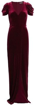 ML Monique Lhuillier Velvet Studded Gown