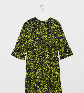 Only Petite Only Tall Mary 3/4 sleeve printed smock dress