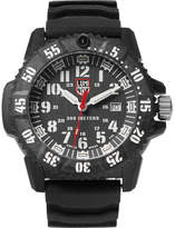 Luminox 3800 Series 3801 Carbon-reinforced And Rubber Watch - Black