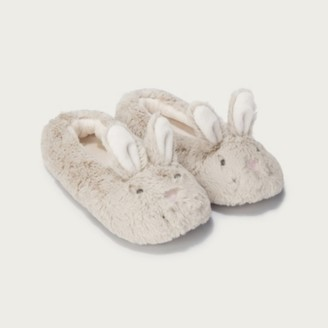 The White Company Children's Bunny Slippers, Mink, 6/7